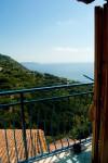 Vista dalle camera. Una delle matrimoniali è dotata di balcone.