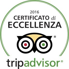 2016: la nostra passione premiata dal Certificato di Eccellenza TripAdvisor