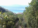 Pisciotta vista dal sentiero verso Castelluccio